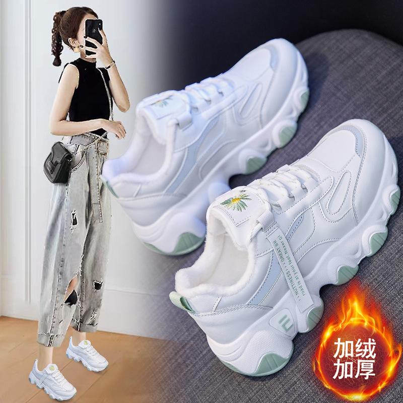 加绒老爹女鞋2020冬季新款韩版百搭学生保暖棉鞋女ins运动棉鞋女