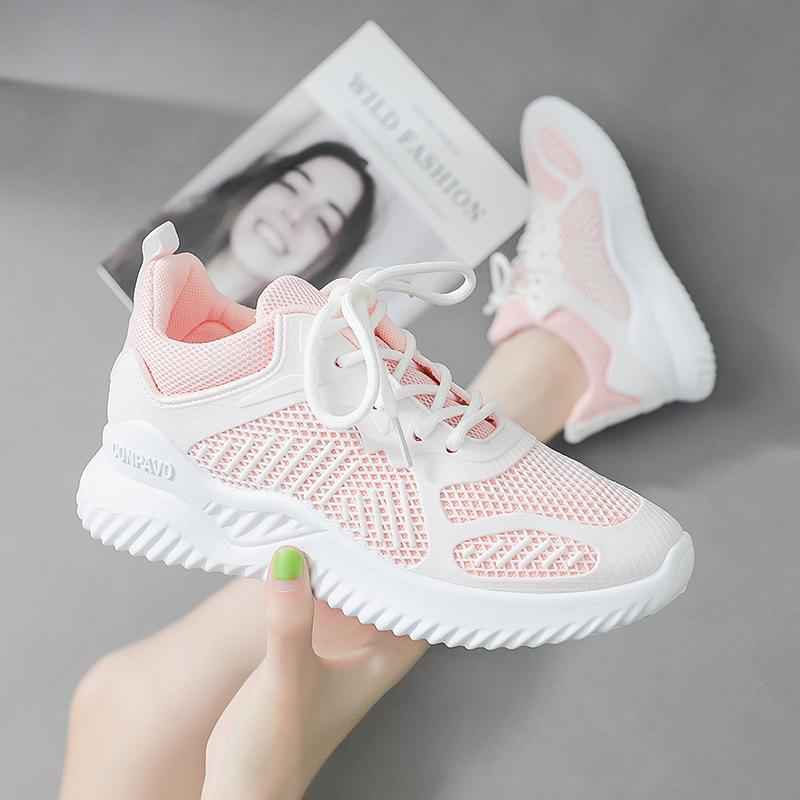 休闲运动鞋女透气轻便跑步鞋学生百搭小白鞋