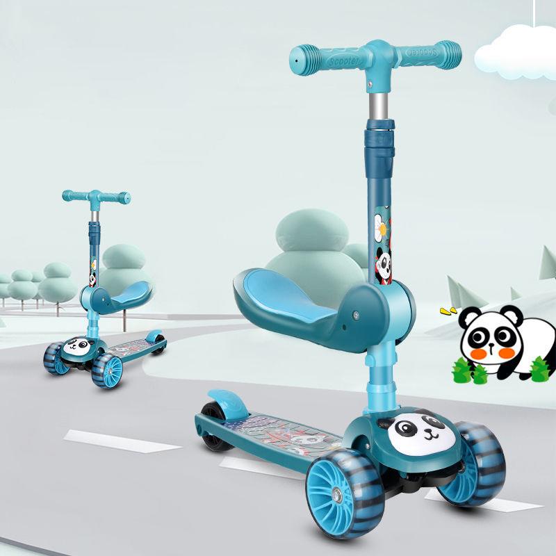 滑板车儿童1-3-6岁可坐三合一男女宝宝音乐闪光小孩踏板车溜车01