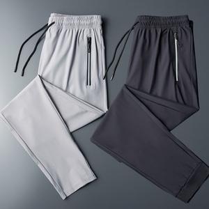男士夏季冰丝裤休闲裤微弹运动裤口袋裤男裤
