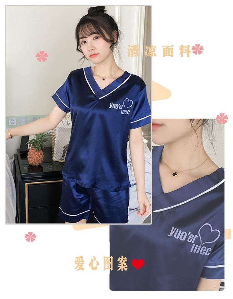中國代購 中國批發-ibuy99 家居服女夏可出门中学生睡衣女款夏季冰丝小个子ins风两件套夏天