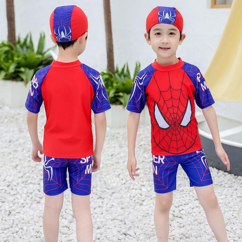 儿童泳衣男童泳衣泳裤泳镜套装分体连体游泳衣中大童小孩沙滩泳装