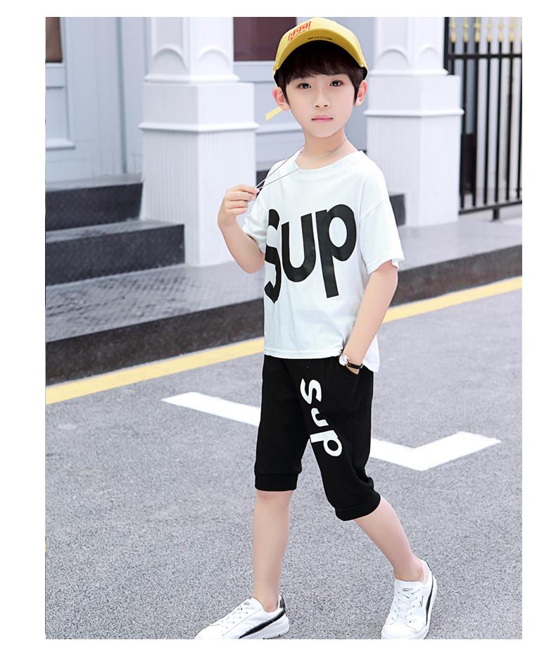 【两套】男童套装套装夏短袖t恤短裤