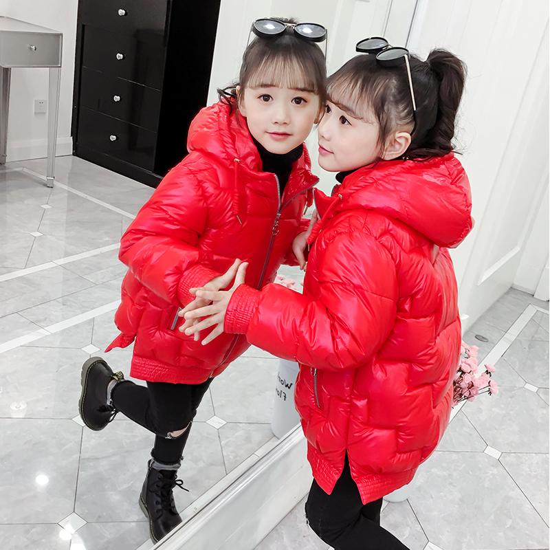 女童棉衣冬装2020新款洋气中大儿童中长款羽绒棉服女孩加厚棉袄潮