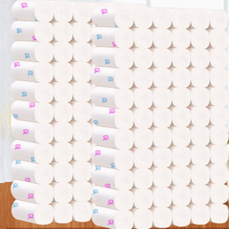 印花多规格卫生纸卷纸妇婴纸巾家用手纸妇婴原木纸巾厕所纸