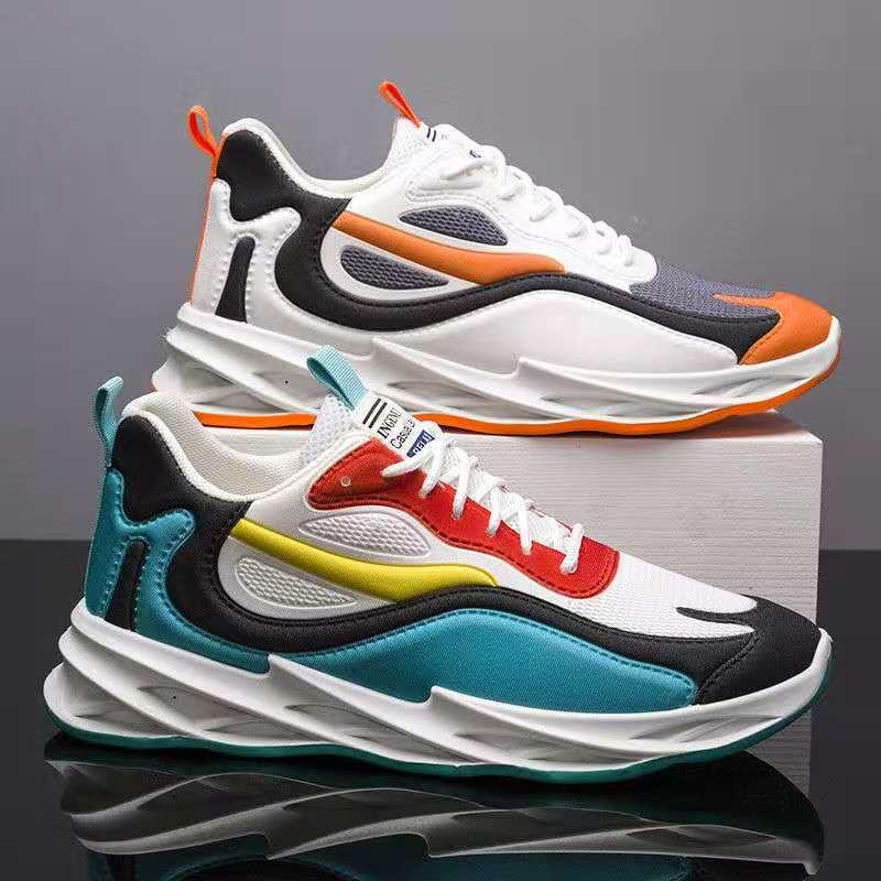 男鞋春季新品系带运动休闲鞋厚底内增高老爹鞋学生潮流韩版跑步鞋