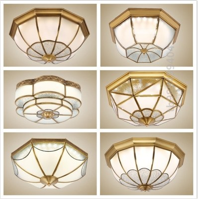 Sun room American country ceiling lamp led bedroom coffee shop homestay hall energy-saving lamp dining room bedroom light bulb