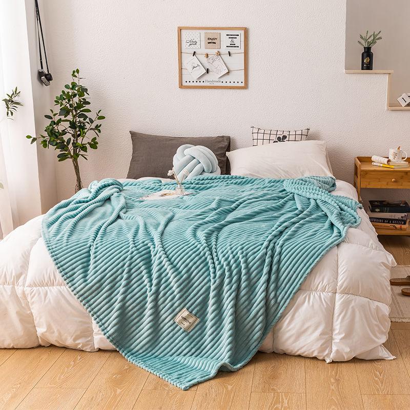 升升/牛奶绒毛毯单人夏天毯子薄款午睡毯