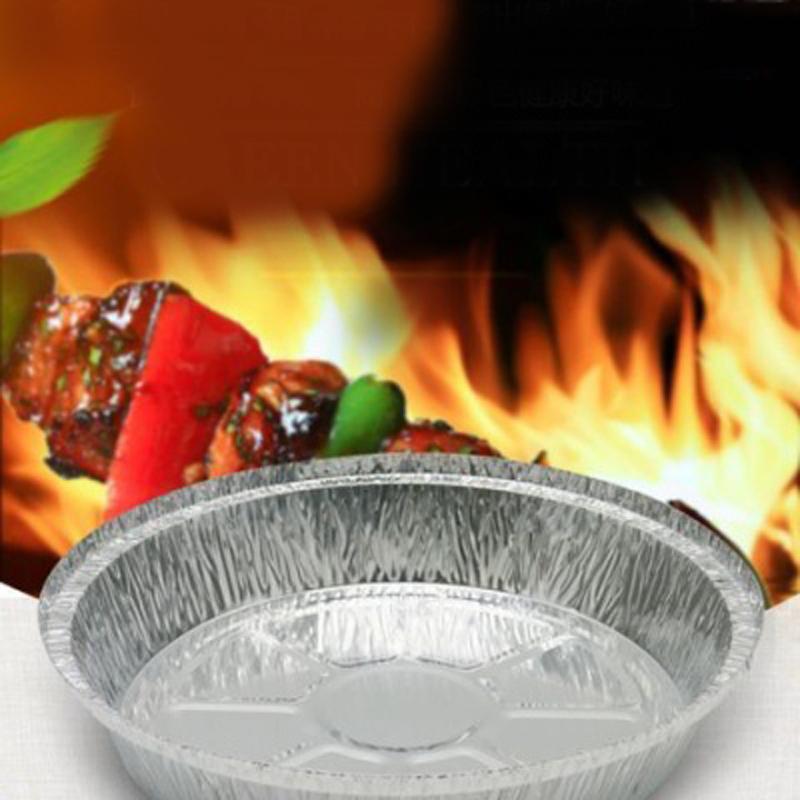 香香/一次铝箔性餐盒锡纸盘圆形盘锡纸盒