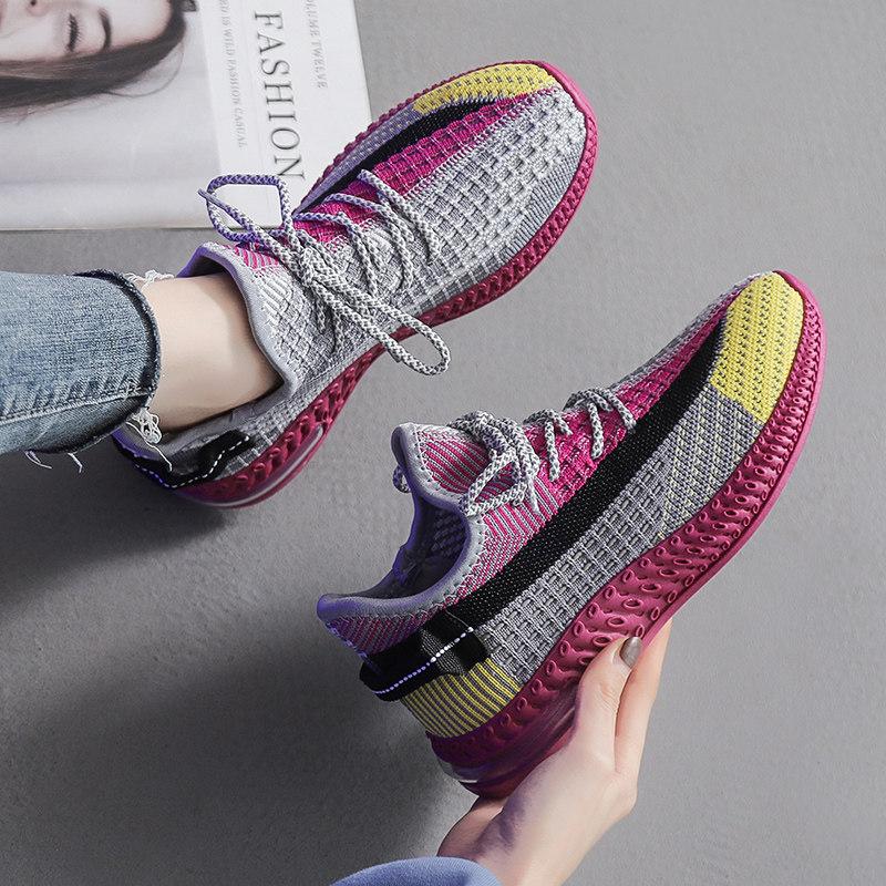 飞织运动鞋女ins夏季透气网面小白单鞋