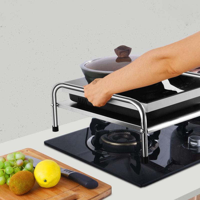 普普/不锈钢电磁炉架厨房用品置物架台面