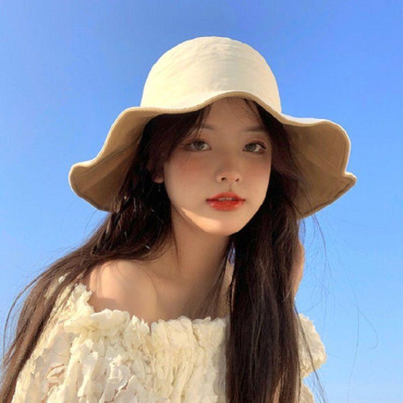 渔夫帽女夏季日系遮脸百搭防晒紫外线遮阳帽子女韩版潮素颜太阳帽