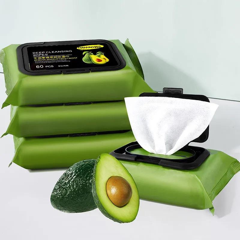 牛油果卸妆巾湿巾眼脸部温和深层清洁一次性