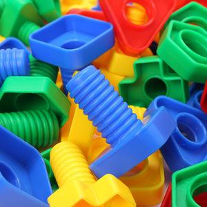 儿童拧螺丝玩具积木形状配对早教益智扭螺丝钉拆卸宝宝男孩1-3岁
