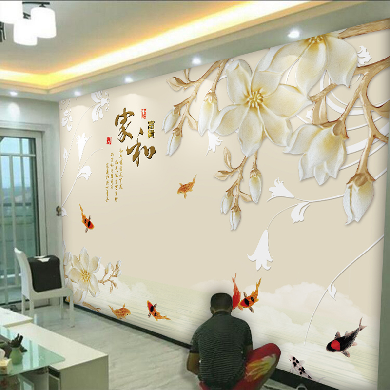 5d TV background wall paper living room 3d mural 8D film and ...