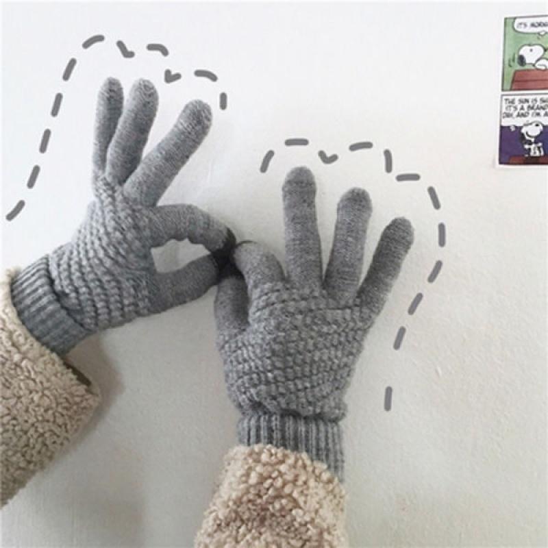 朵朵/冬季保暖手套男女学生韩版可爱情情侣