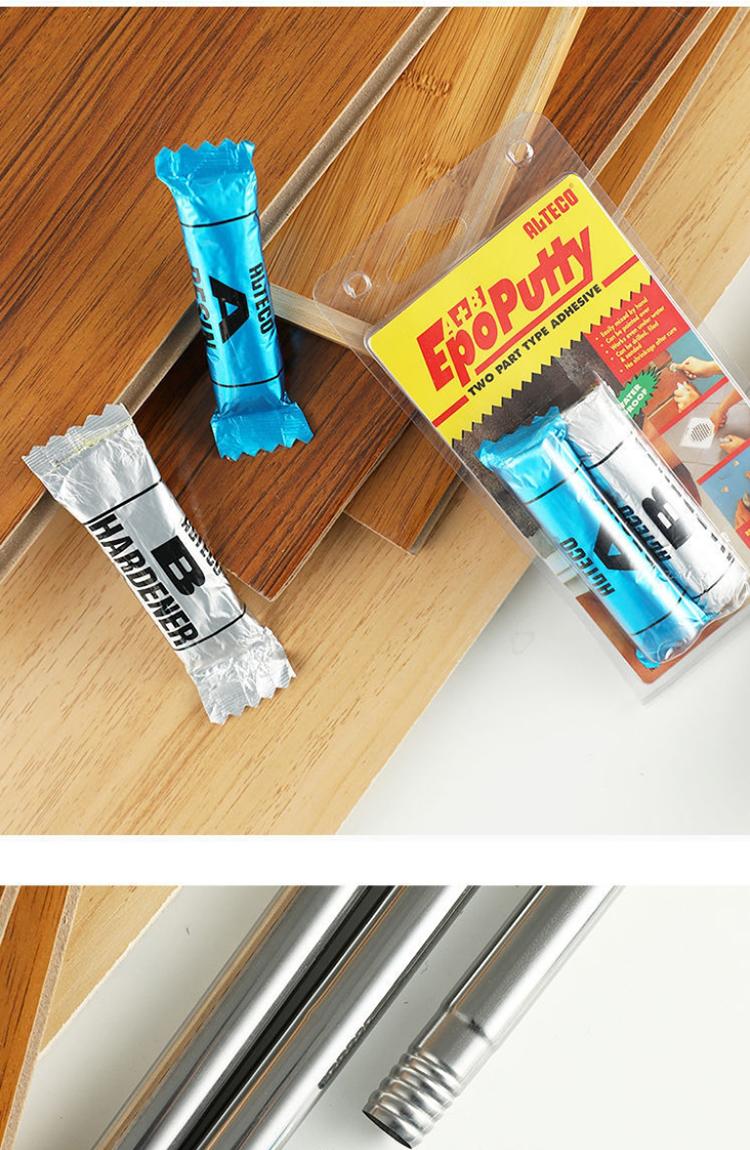 安特固树脂环氧泥胶防水修补鱼缸塑性胶裂缝金属补修胶管道补漏详细照片