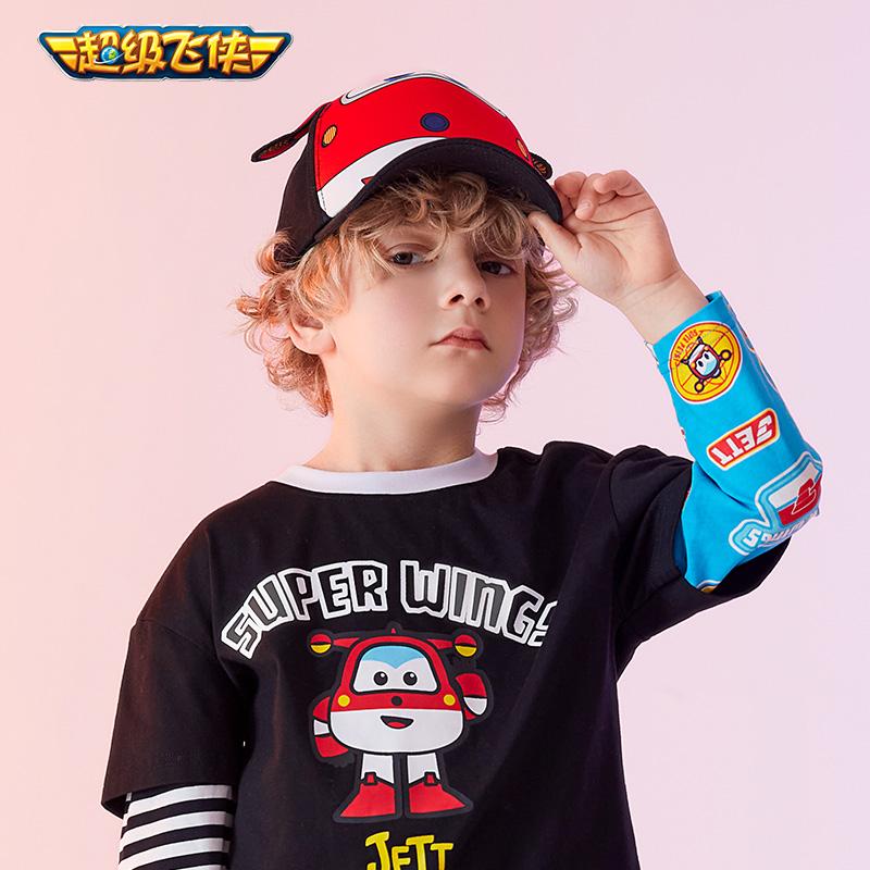 【超级飞侠】儿童条纹打底衫t恤长袖