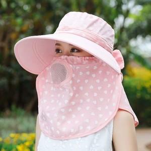 防晒帽女夏季帽子遮脸太阳帽大沿百搭凉帽防