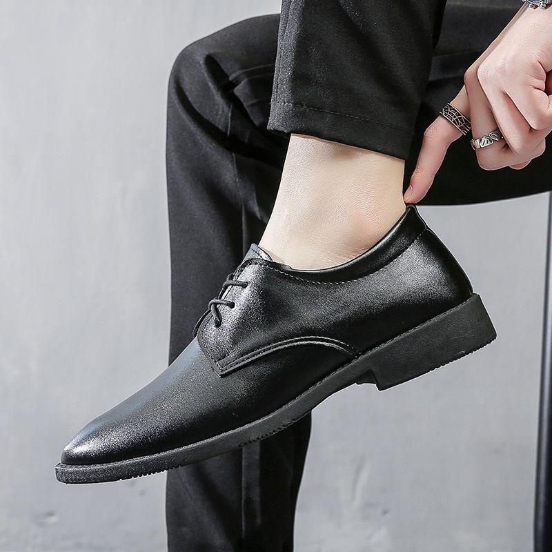 男士皮鞋商务正装皮鞋男英伦黑色软底皮鞋男款新郎伴郎结婚男皮鞋(男士皮鞋商务正装皮鞋男英伦黑色软底皮鞋男)