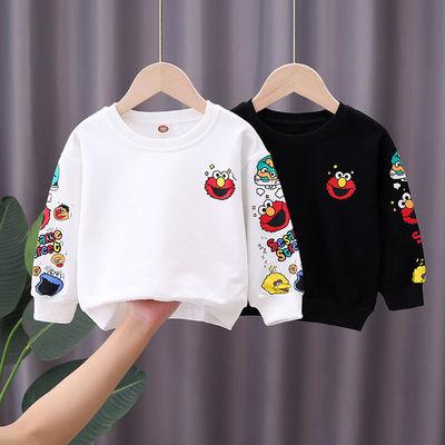 男童卫衣韩版洋气2021新款儿童春秋装时尚炸街男宝宝长袖上衣T恤