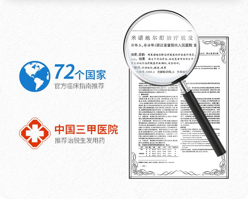 国药OTC 蔓狮 米诺地尔酊 防脱生发喷剂 40ml 治疗斑秃管用 图10