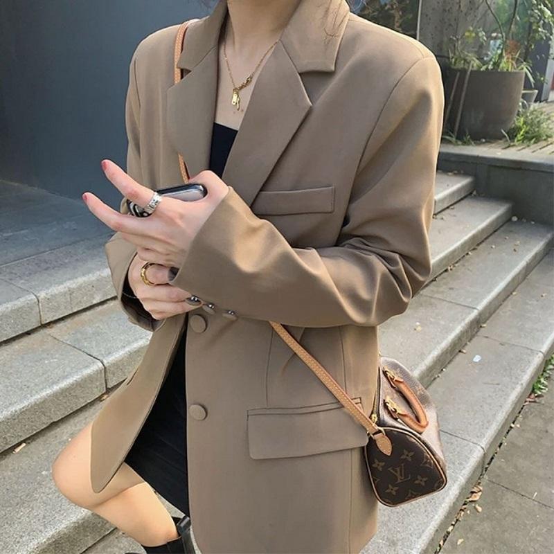 西装外套女2021春秋新款韩版宽松