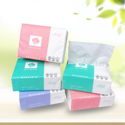紫月花纸巾抽纸家用卫生纸整箱批发实惠装餐巾纸擦手纸面巾抽纸3