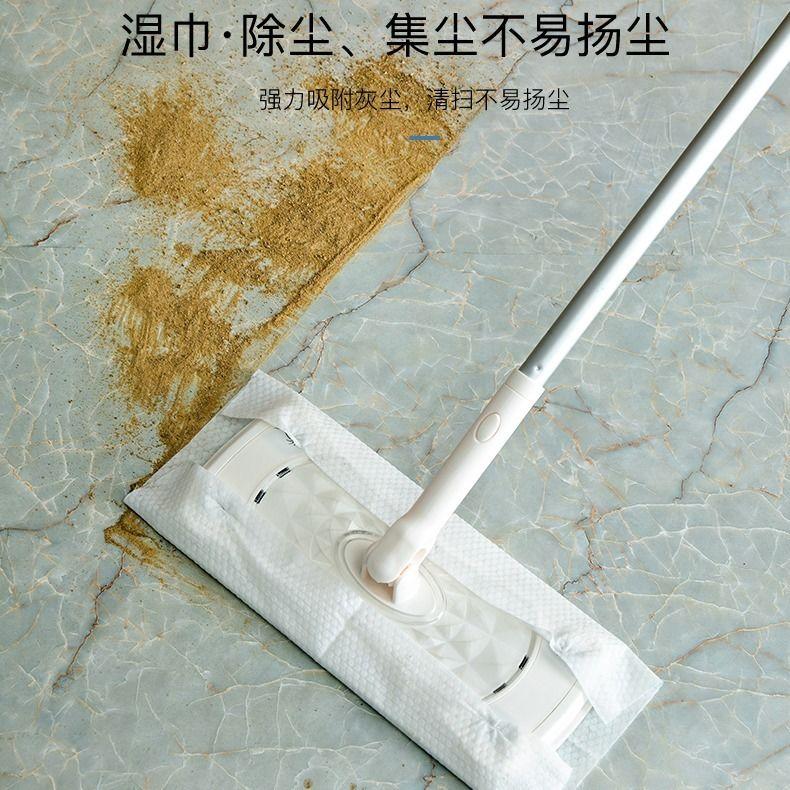爱盛嘉日本静电除尘纸懒人拖把一次性