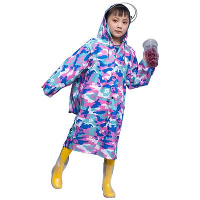 儿童雨衣男童女童小学生上学带书包位套装防水中大童小孩全身雨衣
