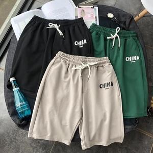 薄款运动休闲短裤男宽松直筒五分裤