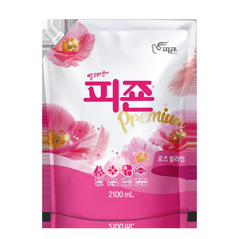 韩国原装进口 碧珍 衣物天然植物柔顺剂 2.1L 柔软去静电留香
