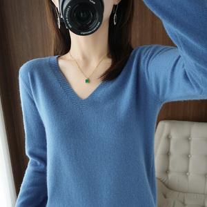 【第二件0元】秋冬新款纯色打底针织衫