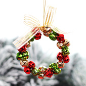Delicate Bell Christmas Wreath Pendant