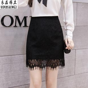 春季新蕾丝裙短裙包臀裙半裙女