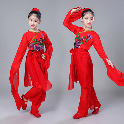 Girls Folk Dance Costumes Children's Sleeve Dance Costumes Classical Sleeve Stunning Dance Girls Modern Dance Costumes