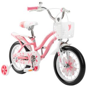 途锐达双低档女孩儿童自行车 141618寸免充气英伦风淑女脚踏单车