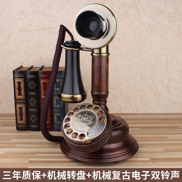 欧式复古仿古无线插卡座机老式转盘联通电信固话老人家用电话机