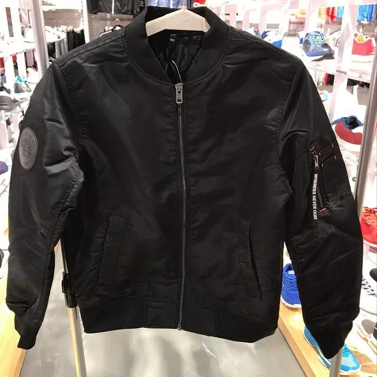 Áo khoác lông chim cao cổ nam đích thực 2017 mùa đông mới áo khoác thể thao cotton áo khoác bóng chày đồng phục áo khoác cotton A775285 - Quần áo độn bông thể thao
