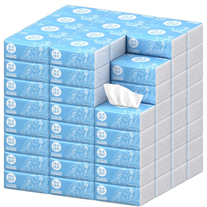 植护 原木抽纸巾27包