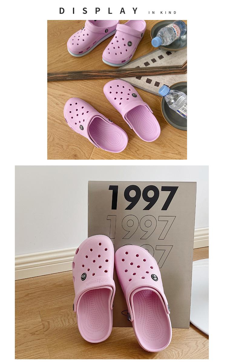 Crocs dép triều ins nữ y tá phòng mổ dép dày lớp vỏ đáng yêu giày lớn Bao Đầu dép trượt