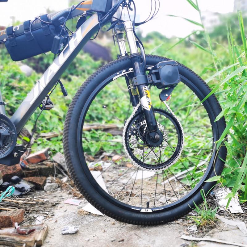 山地越野自行车改装电动助力器套件马达配件无刷电机48V电池前驱