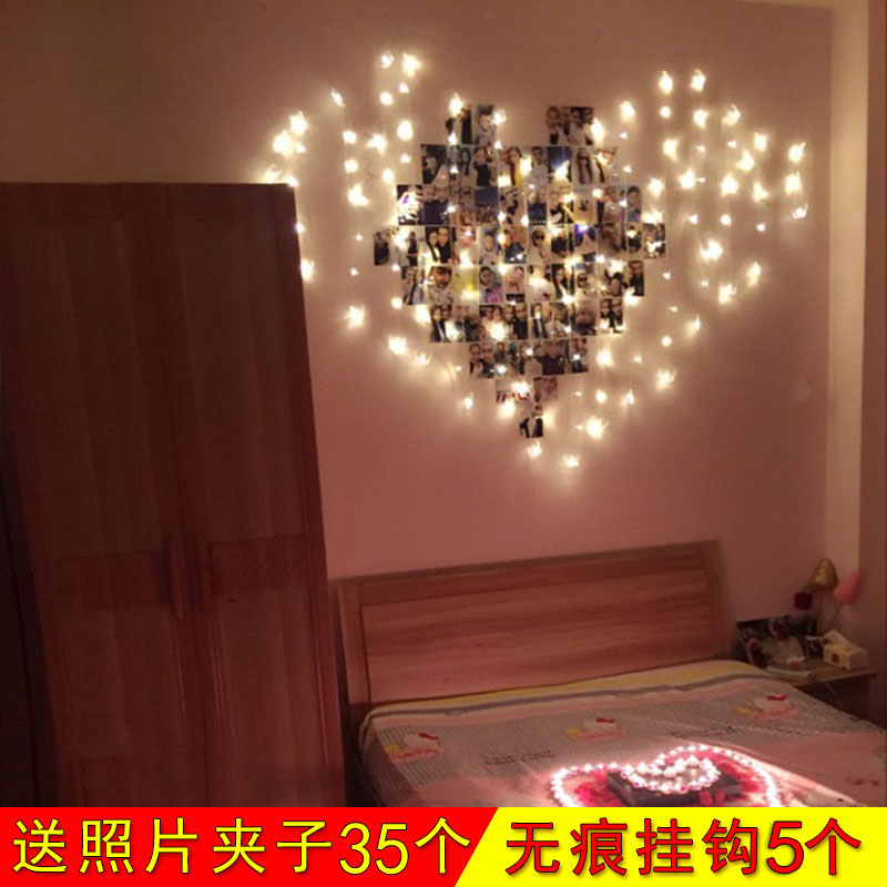 Boyfriend husband birthday gift boys room lights decorations birthday  surprise romantic Valentine's day