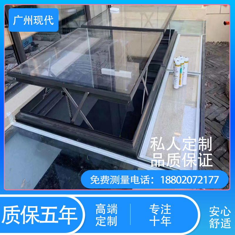Electric parallel rise skylight roof Sunroom ventilation light window attic window electric remote control tiger skylight