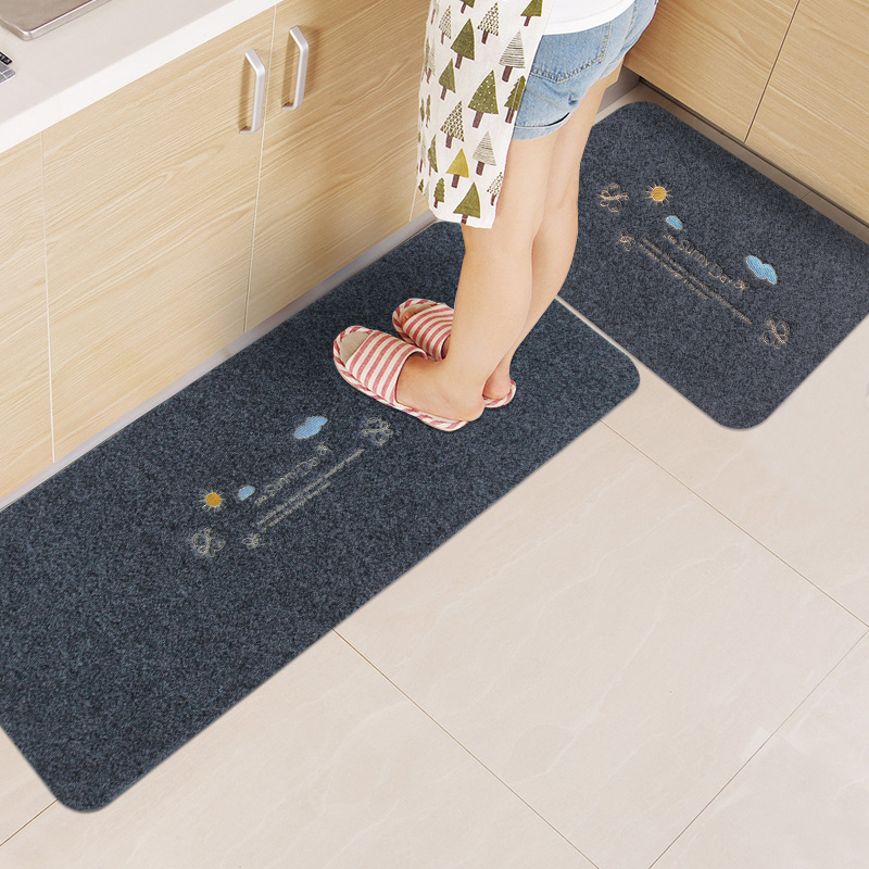 Kitchen Floor Mats Long Absorbent Oil Non Slip Mat Anti Home Full Easy To Take Care Of The Carpet Door Into