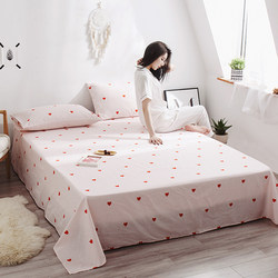 Pure cotton bed sheet ins Nordic girl quilt single piece cotton cute small fresh single double thick 1.8m single