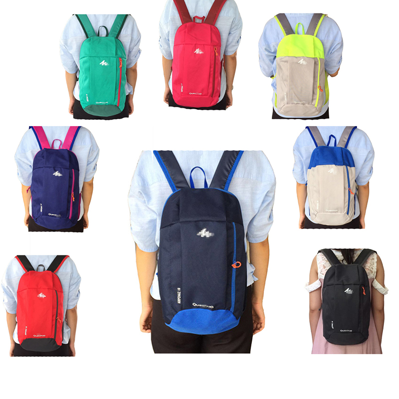 8e6517156b Decathlon backpack canvas leisure travel backpack men and women outdoor sports  backpack mini student small bag