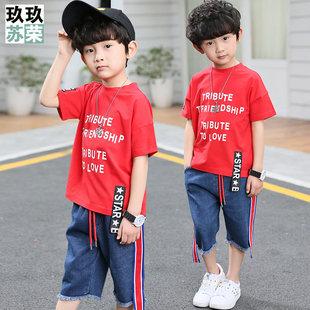 男童夏装套装2019新款