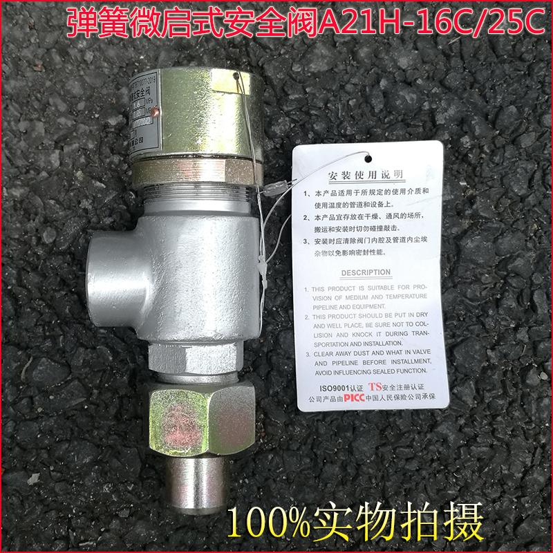 A21H A21W A21Y Screw-in type Spring loaded micro-opening safety valve 128