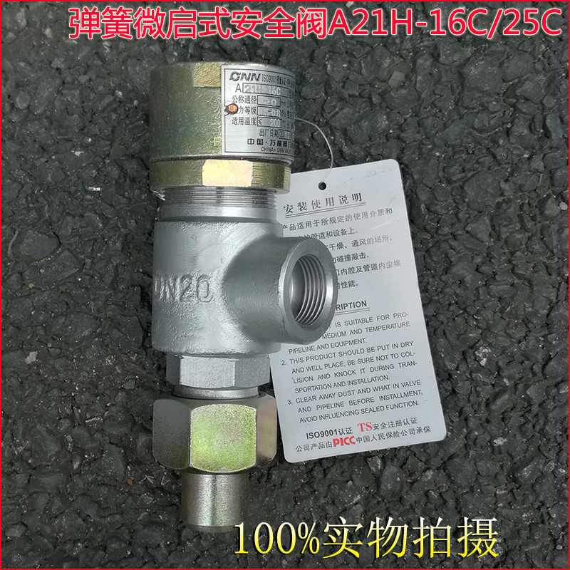 A21H A21W A21Y Screw-in type Spring loaded micro-opening safety valve 130